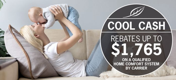 Take advantage of Cool Cash Rebates up to $1,765